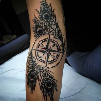 Feather Peacock Tattoo Tattoos Compass Inspiration Pavo