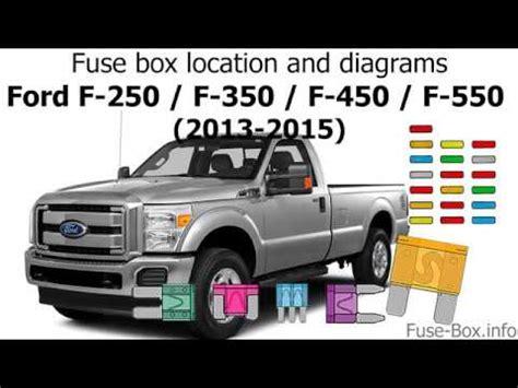 fuse box location  diagrams ford  series super duty