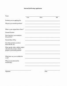 best photos of job posting form internal job posting With internal job application form template