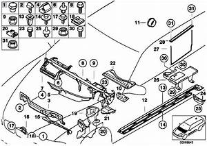 Original Parts For E39 525i M54 Touring    Vehicle Trim   Body Parts Floor Panel Engine Compartm
