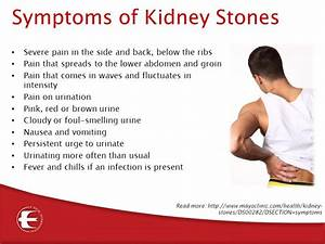 What Are The Symptoms Of Kidney Stones
