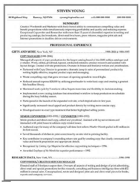 Copy Of Resumes by Copy Of Resume Exles Resumes Porza Intended For