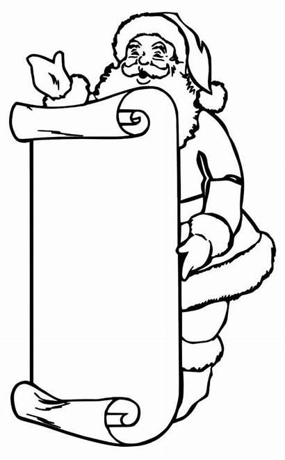 Santa Coloring Christmas Pages Claus Drawing Santas