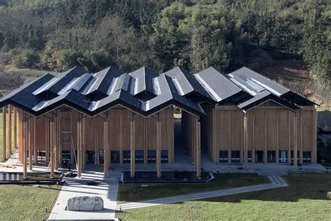 home design center miami striking zig zag roof tops modern community space in rural