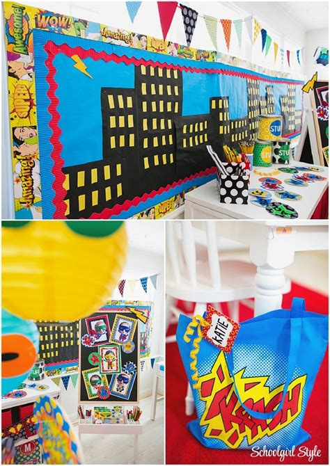 superhero classroom theme  decor classroom decor