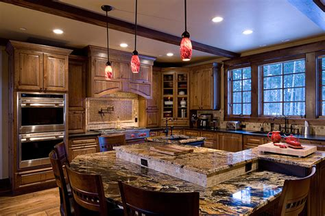 mountain gourmet kitchen traditional kitchen denver