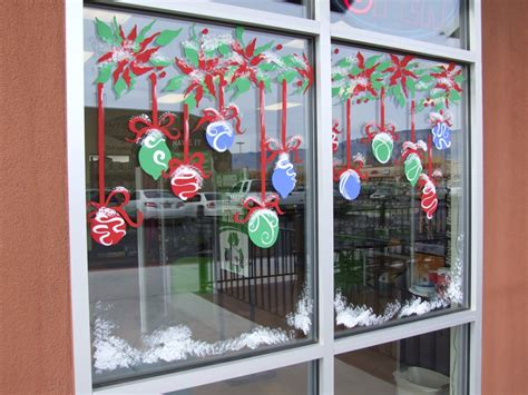 christmas window painting ideas interstate all battery center holiday art