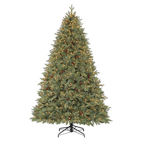 artificial christmas trees at lowes allen roth 7 5 ft pre lit pine artificial tree with white incandescent lights at
