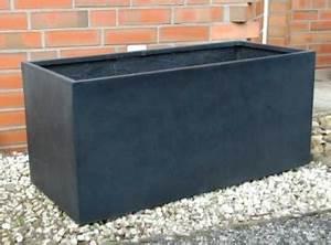 Pflanzkubel 100x45x45 anthrazit fiberglas for Garten planen mit pflanzkübel anthrazit 100 cm