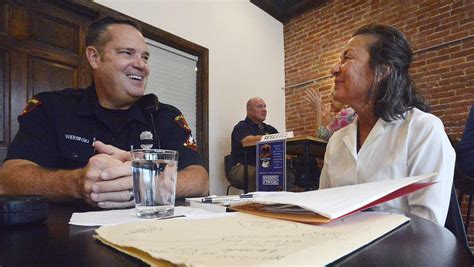 Our guests can enjoy cozy indoor/outdoor seating, large tables and workspaces, wifi (with purchase), and plenty of free parking. Large crowd on hand for Erie's Coffee With a Cop - News - GoErie.com - Erie, PA
