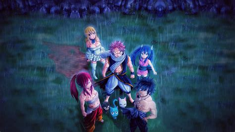 fairy tail team full hd wallpaper  background