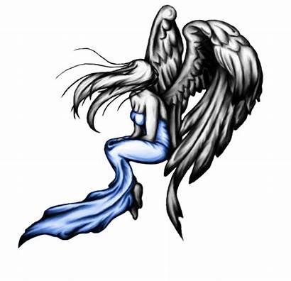 Angel Tattoo Tattoos Designs Deviantart Sad Clipart