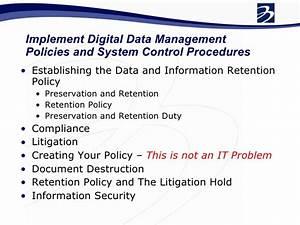issa data retention policy development With document management retention policy