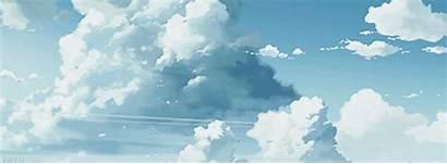 Anime Sky Clouds Scenery Cloud Gifs Landscape