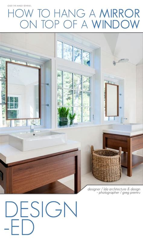 Hang Bathroom Mirror by How To Hang A Mirror On A Window Mirrors Bathroom