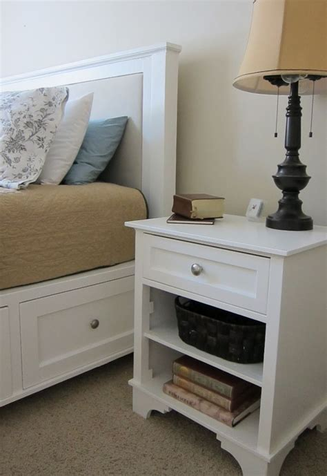 Bed With White Nightstands by White Stands Bedroom Mid Century Nightstand White