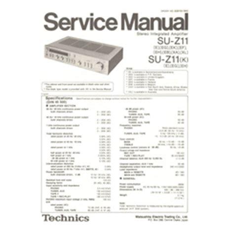 Visonik Wiring Diagram by Su Z11 K Technics Service Manual Highqualitymanuals