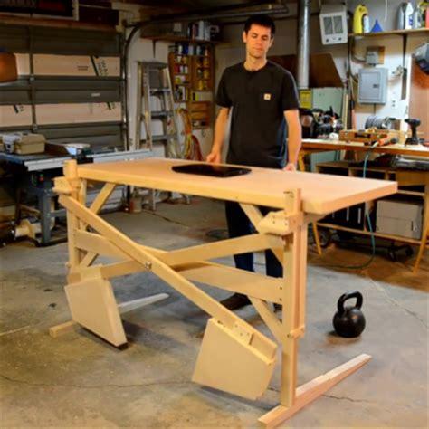 diy height adjustable desk scott rumschlag 39 s diy motor free height adjustable