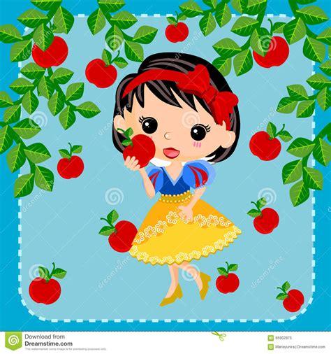 Snow White Princess Cartoon Stock Vector Image 65902975