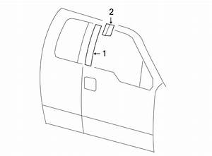 Ford F-150 Door Molding  Front