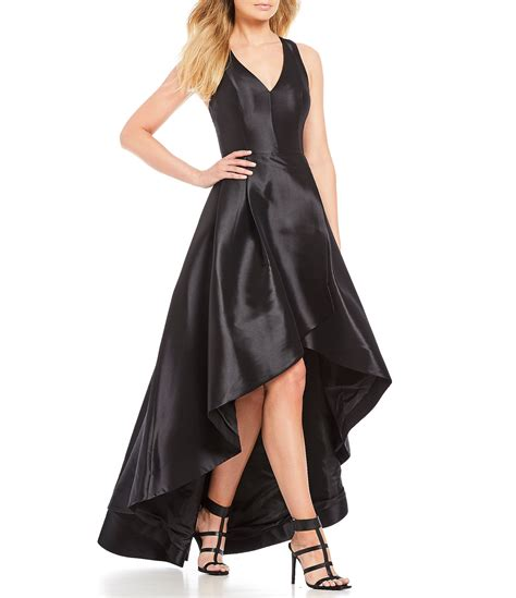 Calvin Klein Taffeta Tulip Hi-Low Dress | Dillards
