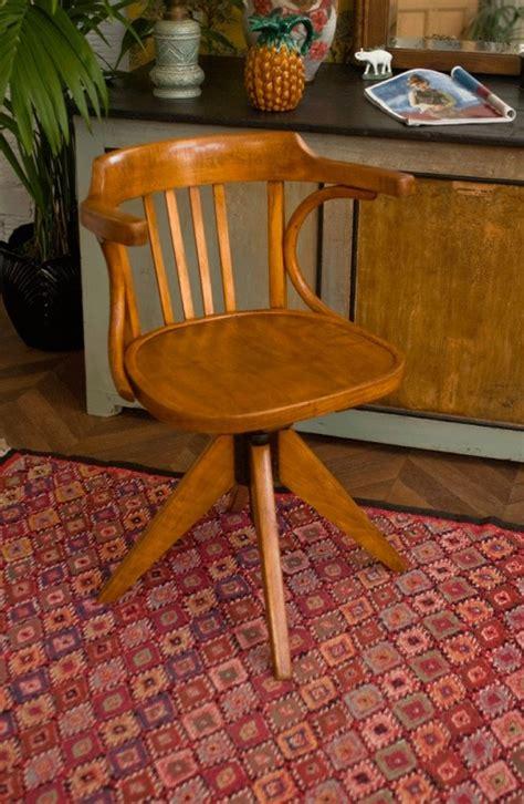 fauteuil vintage fauteuil retro annees  fauteuil baumann fauteuil de bureau bois vernis