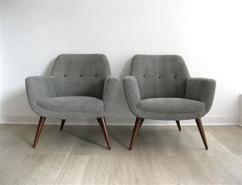 1950s Retro Pair Heals Lounge Chairs Armchairs