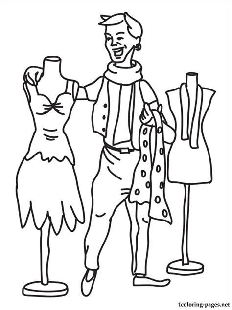 fashion designer coloring page coloring pages