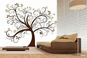 Amazing tree modern wall decor ideas brown sofa olpos design