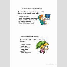 Conversationweather Worksheet  Free Esl Printable Worksheets Made By Teachers