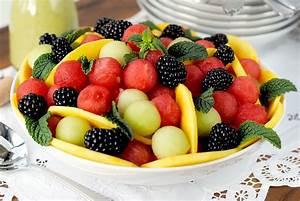 Watermelon Fruit Salad with Honey Mint Vinaigrette