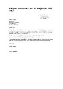 Job Application Cover Letter Sample Cover Letter Example