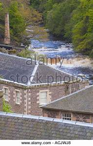 New Lanark Heritage Village, Clyde Valley, South ...