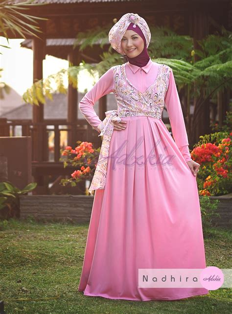 baju pesta adzkia nadhira by adzkia pink baju muslim gamis modern