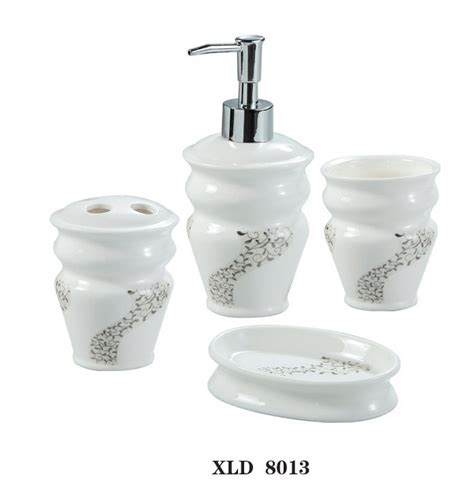 xld8013 white ceramic bathroom accessory set soap dish