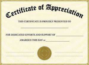 Certificate of appreciation templates pdf word get for Free certificate of appreciation template downloads