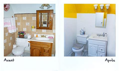 peinture carrelage salle de bain avant apres peinture