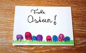 Osterkarten Basteln Mit Kindern : osterkarten basteln ruckzuck mit der fingerabdruck anleitung mit ~ Eleganceandgraceweddings.com Haus und Dekorationen