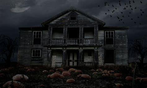 Background Haunted House by Haunted House Backgrounds Wallpaper Cave