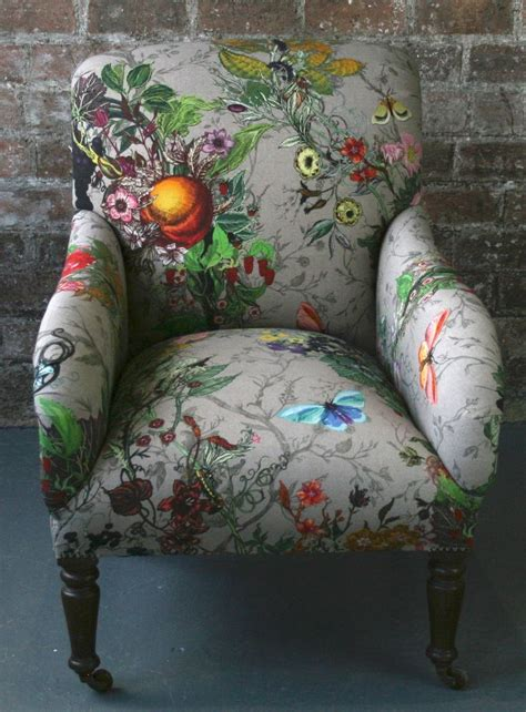 Upholstery Fabric For Sofas And Chairs by This Gorgeous Botanical Fabric It Would Brighten Up