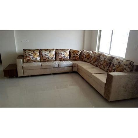 brown wood  shape designer sofa set rs  set