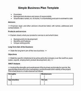 business plan template proposal sample printable With very simple business plan template