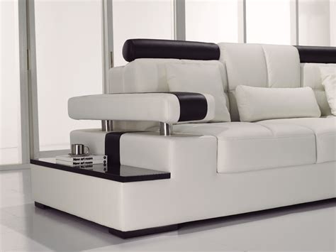 italian leather sectional sofa contemporary black white italian leather sectional sofa