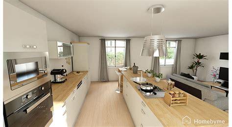 bloc cuisine avec electromenager cuisine ouverte sur salon aménagement maison travaux