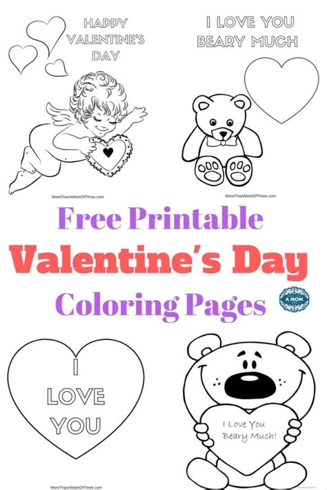 valentines day coloring pages free printable free valentines day coloring pages printables for