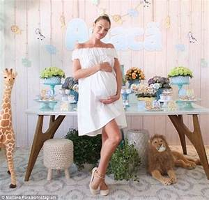 Candice Swanepoel celebrates at safari-themed baby shower