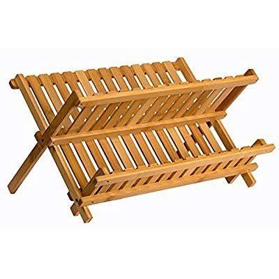 wooden dish rack plate rack collapsible compact dish drying rack bamboo dish drainer walmart