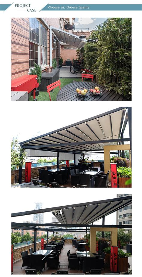china pvc retractable roof aluminum pergola china retractable awning retractable cover
