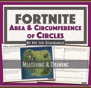 fortnite math game area  circumference  circles activity