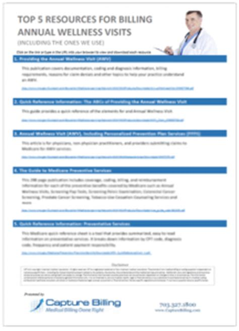 medicare annual wellness visit template top 5 resources for billing medicare annual wellness visits g0438